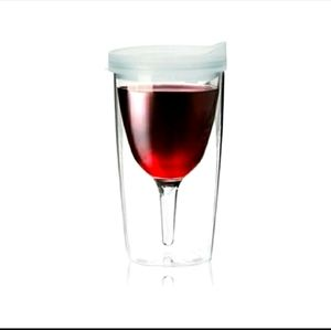 Vino2Go Adult Wine Sippy Cup CLEAR or BLUE